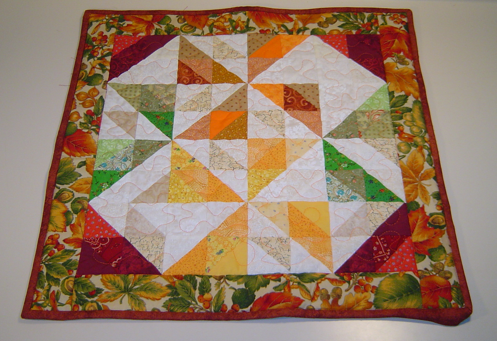 Old Windmill fractured quilt