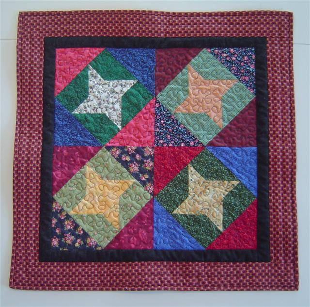 Friendship Star on point quilt