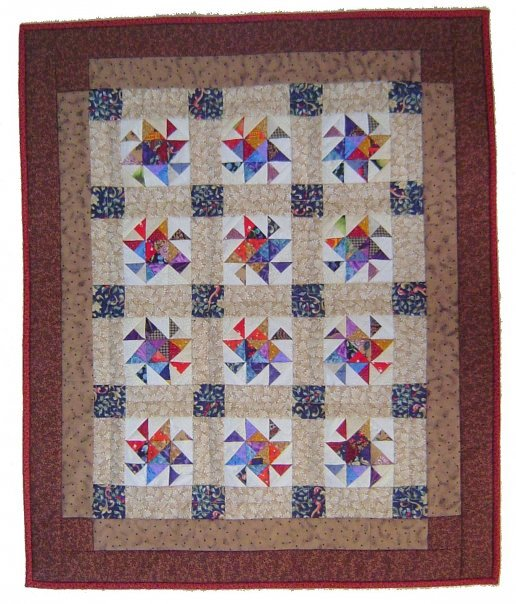 Interlocking Pinwheel quilt