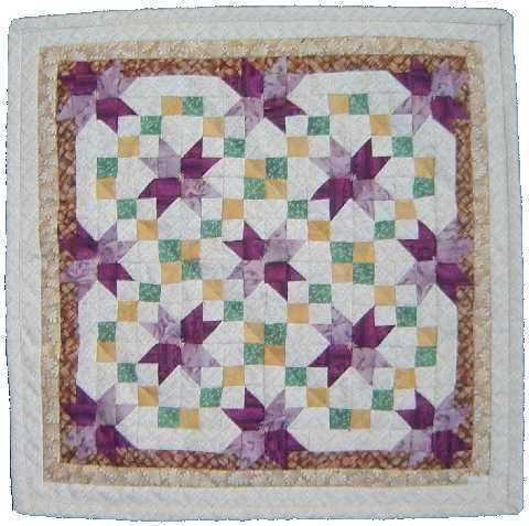 Pansy Star quilt